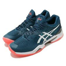 Asics Court FF 2 Mako Blue White Coral Men Tennis Shoes Sneakers 1041A083-400