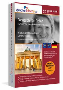 Deutsch lernen für Polen, Polnisch - Deutsch PC Basiskurs Online Lernprogramm