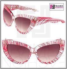 00a9d94bce Linda Farrow X Charlotte Olympia Feather Cat Eye Leggy Sunglasses Red  Crystal