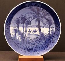 """Royal Copenhagen Christmas Plate 1972 - In the Desert, 7-1/4"""" Diameter"""