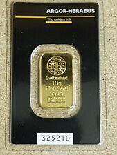 10 g Goldbarren 999.9 Gold von Argor-Heraeus  Neu