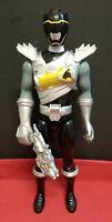 "Black Ranger Power Rangers Dino Super Charge 12"" Action Figure Morpher Bandai"