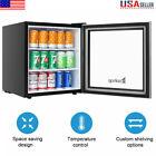 60 Cans Beverage Cooler Mini Fridge Steel Glass Door LED light Beer 1.6 Cu.Ft US