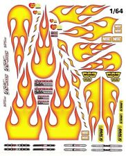 Airbrush Style Hot Rod Flames High Definition 1/64th HO Scale Slot Car decals