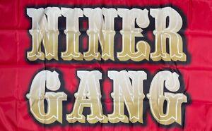 San Francisco 49ers Niner Gang Flag 3x5 ft Sports Red NFL Banner Man-Cave