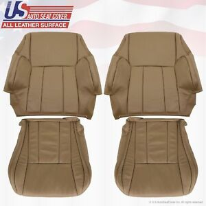 Front 2x Tops 2x Bottoms Leather seat Covers Tan Fits1996 to 2002 Toyota 4Runner
