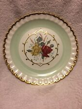 Alpine White Ironstone Wood & Sons Rose Plate England