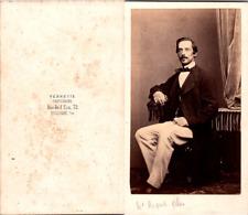Verneuil, Boulogne-sur-Mer, Bel homme nommé Auguste Gilles Vintage CDV albumen c