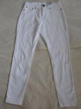 NWT $54 Hue Women Ripped Denim Skimmer Leggings White Sz S U16119