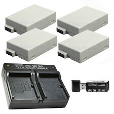 4x LP-E8 Replacement Battery & USB Dual Charger f/Canon EOS T2i T3i T4i T5i 700D