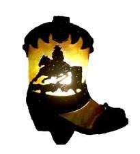 Cowboy Boot Plug In Wall lights Beautiful Soft Night Light Lamp 240v LED Bulb