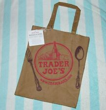 Trader Joe's Reusable Washable Paper Grocery Eco Bag Brown Shopping Natural Tote