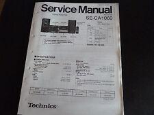Original Service Manual Technics Amplifier SE-CA1060