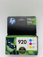 NEW Retail Box Genuine HP 920 Color Ink Cartridges,C/M/Y Pack EXP 10/2020