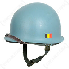 United Nations M1 HELMET with LINER / CHIN STRAP - Blue UN Issued Surplus