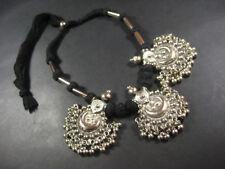 bdf70046c0f1 N5663 Tono Plata Alemán Antiguo campanas Tribal Gypsy Bohemio Gargantilla  Collar
