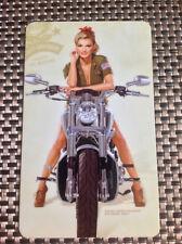 MOTORCYCLE BABE Sexy Pin Up Girl Fridge Magnet - playboy retro vargas gift