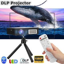 Portable Wifi BT Video LED Projector Home Office Cinema Theater 1080P DLP