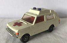 Vintage Corgi Toys Whizzwheels 482 Vigilant Range Rover ambulance échelle 1:36 voiture