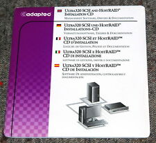 ADAPTEC ULTRA320 SCSI and HostRAID Installation CD original sealed 513699-00EU