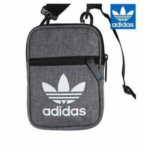 New Adidas Originals Grey Festival Shoulder Bag, Travel Crossbody Bag, D98925