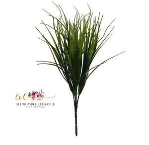 "17"" Grass Bush Decorative Artificial Greenery Indoor Plant Plastic Faux Fake"