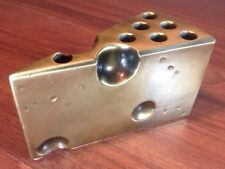 RARE Antique Vintage MCM Brass Cheese Wedge Pen Pencil Holder Desk Paperweight