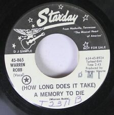 Country Promo 45 Warren Rob - (How Long Does It Take) A Memory To Die / Magical