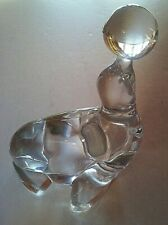 Vintage, Martinsville Crystal Baby Seal w/ Ball