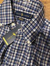 Polo Ralph Lauren Men's L/S Shirt Small Classic Fit Performance Blue Nwt