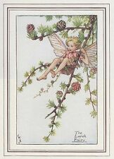 CICELY MARY BARKER c1930 THE LARCH FAIRY Painting Vintage Art Book Print