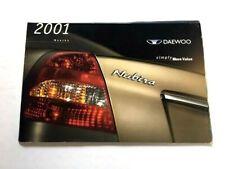 2001 Daewoo Nubira 18-page Original Car Sales Brochure Catalog