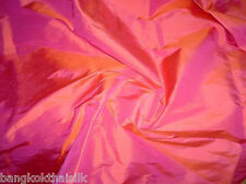 Pink & Vermilion 100% PURE SILK FABRIC BRIDESMAID DRESS DRAPE TABLECLOTH CRAFT