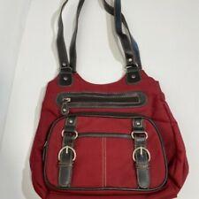 Handmade Red Canvas Bag Satchel