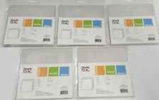 5 Clear Flexible Acrylic Scrapbook Craft Albums 6 x 6 by Apple Pie Memories