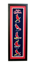 """St. Louis Cardinals 36""""x12"""" Framed Heritage Banner with Team Logos"""