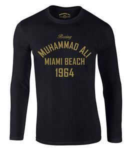 Muhammad Ali Boxing Long Sleeve Miami Beach Langarmshir NEU Langarm Muhamed
