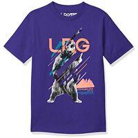 LRG Men's Crew Neck Short Sleeve Graphic Print T-Shirt (Purple, M)