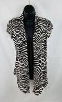 Heart & Soul Womens Shirt Top Short Sleeve Tiger Stripe Size Small