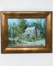 Original Oil On board Painting Signed R Seftan Farmhouse Old Home Country House