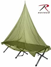 Olive Drab Single Person Mosquito Netting - Rothco 7' Easy-Rig Bug & Insect Net