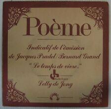 France Inter 45 tours Temps de vivre Pradel/Grand 1976