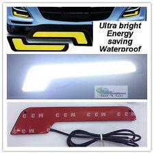 Pair 7 Shape L Shape 8.6W Ultra Bright COB LED Daytime Running Lights Lamps DRL