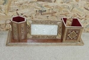 INTRODUCTORY OFFICE MOSAIC WOOD SYRIAN HANDMADE DECORATIV WRITING TABLE OFFIC