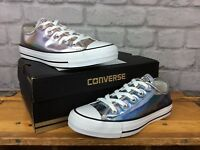 CONVERSE ALL STAR LADIES HOLOGRAM SILVER TRAINERS YOUTH GIRLS T