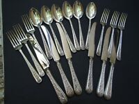 Vintage Australian RODD EPNS A1 BROCADE Cutlery SHEFFIELD Blades Set 6 People
