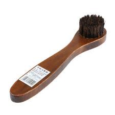 Brosse en bois à poils longs Brosse à cheveux en cuir Brosse à chaussures