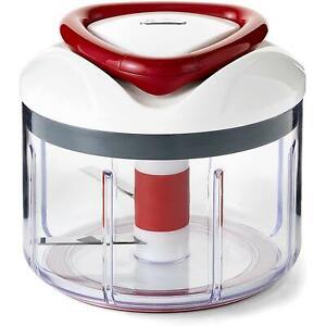Zyliss Easy Pull, Fine/Coarse - Manual Food Processor - Mix, Chop, Blend & Puree