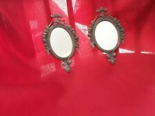 Vintage Mid 20 th Century a Pair Small Mirrors. Made in Italy.