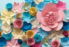 Background Studio Photography Props Vinyl 7x5Ft Colorful Handmade Flowers